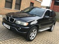 2003 BMW X5 3.0 SPORT PETROL AUTOMATIC BLACK POWERFUL 5 SEAT 4X4 JEEP LEATHERS N ML LAND ROVER 530