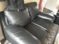 3+ 2 seater leather sofas good condition