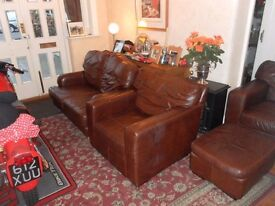 Brown Leather Suite.