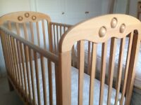 Mothercare Playbead Cot and mattress