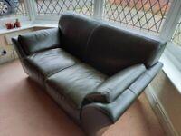 Leather Sofa, Settee