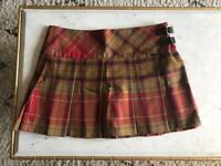 ANTA Scotland Tartan Women's Mini Kilt Skirt M
