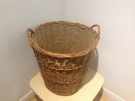 Round Wicker Basket - Produce Display & Storage (Diameter 50cm x Depth 50cm)