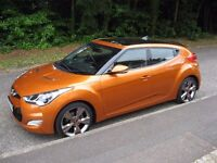 2013 HYUNDAI VELOSTER SPORTS GDI COUPE 1.6 LADY OWNER F.S.H TAXED MOT 16000 MILES.PART X