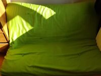 Green Futon very good condition for sale in Maidenhead.