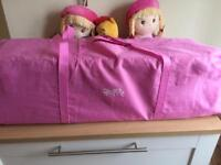 Red kite pink travel cot