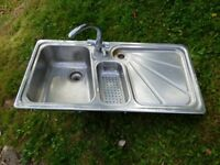 quality stainless steel kitchen sink with taps