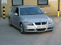 2007 BMW 318D M SPORT DIESEL SILVER 4 DOOR LONG MOT SOME PAPER WORK LEATHER SEATS HPI CLEAR