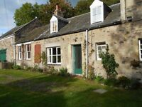 2 BR Cottage to Rent in lovely Abbey St Bathans. Edinburgh commute possible. + Office optional