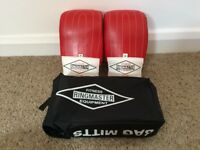 AS NEW Ringmaster Boxing Gloves Sparring (Red) Professional Leather
