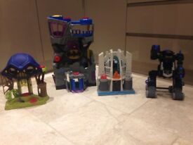 Imaginext bat cave and other batman toys
