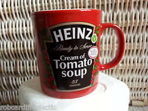 COLLECTABLE CREAM OF TOMATO SOUP MUG FROM HEINZ NEW IN ORIGINAL PACKAGING