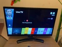 """LG 24MT49S-PZ 24"""" Smart HD TV Monitor with Wifi & WebOS & Freeview Play"""