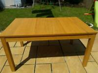 Oak effect extendable dining table