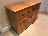 Solid Oak Chest of Drawers (4 over 3 over 2)