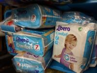 Libero Comfort size 7 Nappies 15 packs of them.