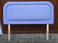 Double (4ft6in) Headboard - BARGAIN - padded, lilac colour