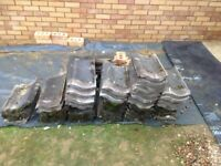 Approx 70 Roof Tiles - 1960's tiles now obsolete - spares or can be used for small porch