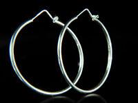 925 Sterling Silver Hoop Earrings, new and boxed - David Deyong - Free P+P!