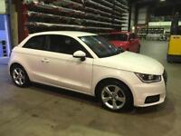 White Audi A1 Sportback