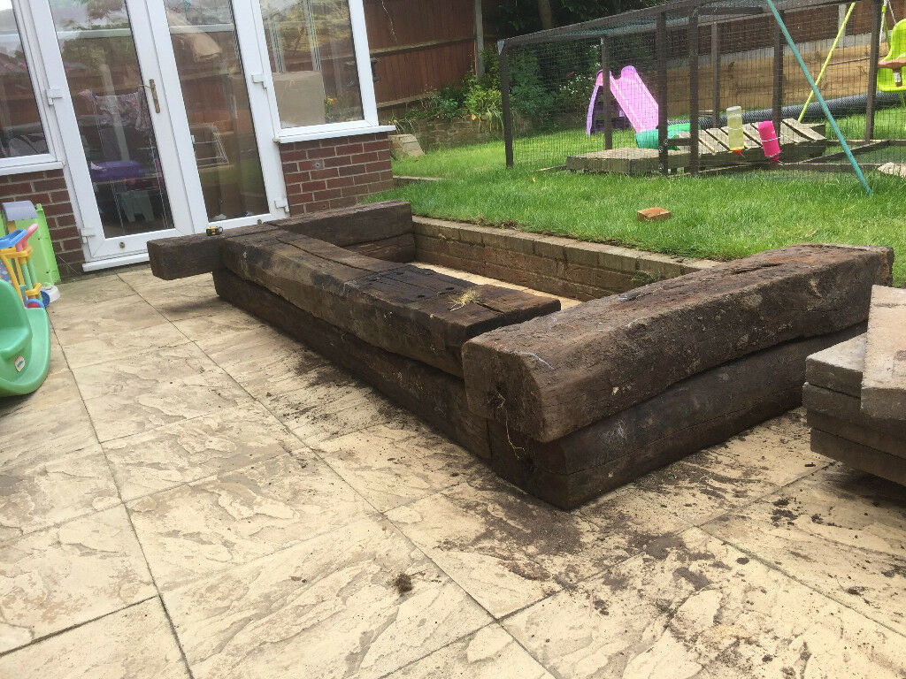Reclaimed railway sleepers for raised bed | in North ...