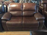 Quality 2+2 brown reclining armchair ONLY £400