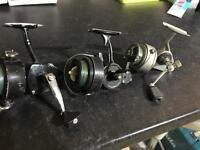 Three vintage fishing reels
