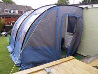The Stratford Porch Awning fr Campervan Caravan Side Tent 2.2m-2.6m Blue Grey