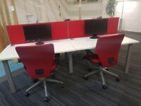Red desk dividers £30 each