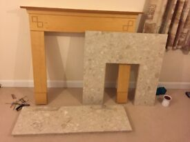 Fireplace surround and Marble fireplace and hearth