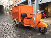 Piaggio Vespa Car 1975 125cc Coffee Cart Business Ape Promotional