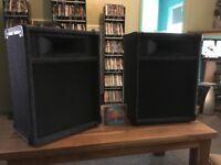 pair of pa speakers