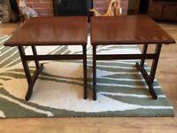2 X G Plan Solid Wood Mahogany Veneer Side Tables