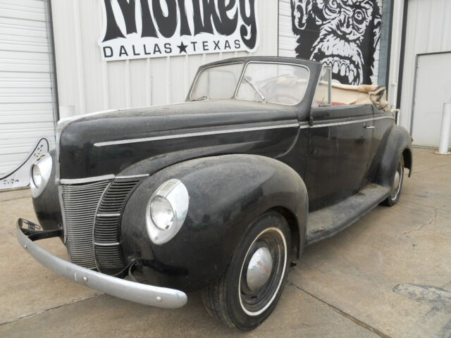 1940 Ford Deluxe Convertible Barn Find Project Offered By ...