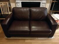 Furniture Village Dante Real Leather 2 Seater Sofa - Brown - RRP £845!
