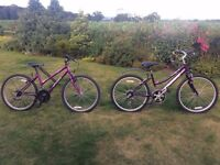 Teenage girls mountain bikes for sale aged 9 to 13