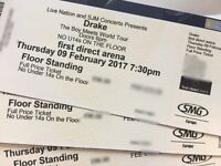 Drake-The Boy Meets World Tour STANDING tickets Thursday 9th February 2017 LEEDS