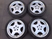 "MERCEDES BENZ AMG STYLE 17"" ALLOY WHEELS WITH x4 FALKEN TYRES ( OUR REF 039 )"