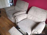 Free x2 cream armchairs