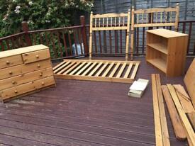 Pine Mid Sleeper Cabin Bed