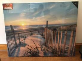 Pathway to the beach canvas