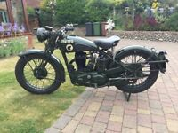 Immaculate BSA WM20 Despatch Riders Motorcycle
