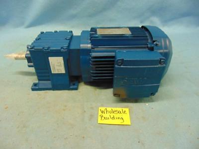 Sew-eurodrive Gear Motor R17dre80m2ln 1hp 3490rpm 230460v 12.98 Ratio