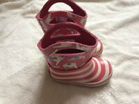 Clarks Doodles Wellies infant size 4F from Clarks