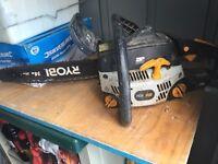 Ryobi chainsaw fully working 16 inch petrol