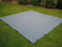 Green groundsheet 2.9x2.75 metres