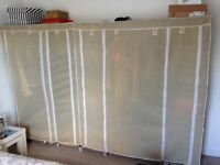 2 Canvas wardrobes £30