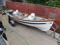 Excellent condition 19 foot Burke Supreme Boat and Trailer + cover + engine