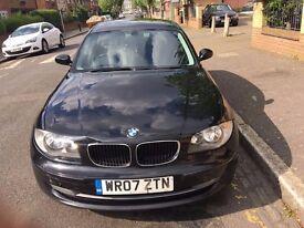 BLACK BMW 118D SE 1 SERIES 2LITRE DIESEL 5DR