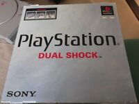 PlayStation 1 Dual Shock Controller with box and 8 games